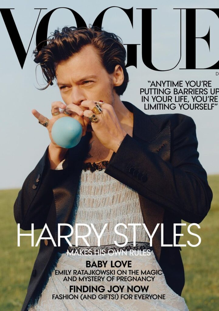 Harry Styles became the first man on the cover of Vogue – and he wore a Gucci dress to shoot